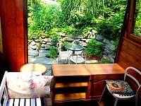 veranda - chata k pronajmutí Bystřice nad Olší