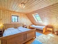 4 - lůžková ložnice v podkroví v chalupě č.1 - Valašská Bystřice