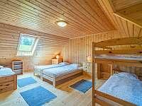 5 -lůžková ložnice v chalupě č.1 - chata k pronajmutí Valašská Bystřice