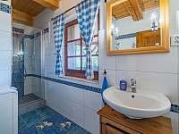 Koupelna s wc v chalupě č.1 - chata k pronájmu Valašská Bystřice