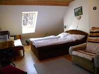 Ložnice č.3. -1xdvoupostel+ 3 postele, - pronájem chalupy Dolní Bečva