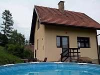 Bazén - chata k pronajmutí Malá Bystřice