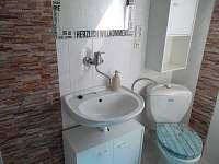 Koupelna + WC - chata k pronajmutí Malá Bystřice