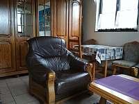 Obývací pokoj - chata k pronajmutí Malá Bystřice