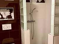 sprchový kout - pronájem apartmánu Karolinka