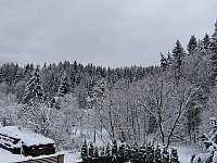Zima - pohled z pokoje