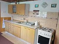 Kuchyň - pronájem chaty Valašska Bystřice