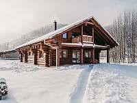 Srub Kanada na Čeladné v zimě - k pronájmu