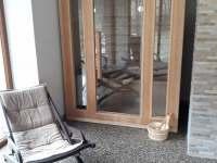 Sauna je součástí welnesu - chata ubytování Pstruží