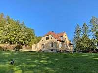 pohled ze zahrady - chalupa ubytování Tichá na Moravě