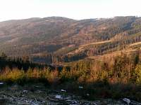 Veřovické vrchy z Ostrého - Zašová