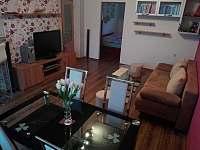 """""""Apartmán u Helenky"""" obývací pokoj s jídelním koutem a kuchyní"""