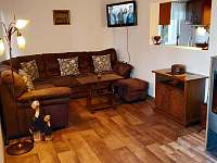 Obývací pokoj - chata k pronajmutí Ostravice