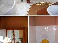 Koupelna a WC v patře