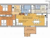 schéma apartmánu - Kunčice pod Ondřejníkem