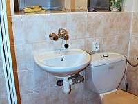 koupelna a WC - chata k pronájmu Huslenky