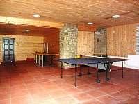 Herna s ping-pongovým stolem - Prostřední Bečva