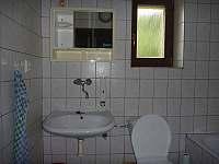 sociální zařízení - chalupa k pronájmu Prostřední Bečva