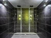 Sprchy ve Wellnes - chalupa k pronájmu Čeladná
