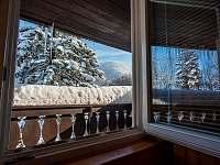 výhled z balkonu na horu Smrk - Čeladná
