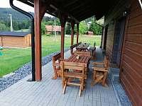Krytá terasa - chalupa ubytování Horní Bečva