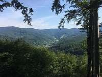 Pohled do údolí - chata k pronájmu Smilovice