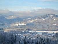 Zimní pohled z terasy - Bystřice