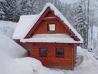 Chata Bzové - sněhová nadílka - k pronajmutí Velké Karlovice