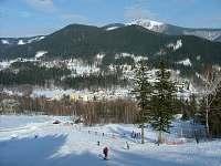 Beskydy v zimě, sjezdovka 2008 - pronájem chalupy Ostravice
