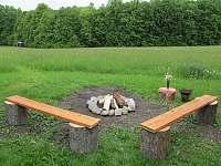 Venkovní ohniště - chalupa ubytování Kozlovice
