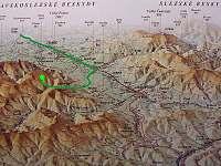 Mapa - chatky k pronájmu Košařiska