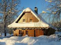 Dřevěnice v zimě - chalupa ubytování Horní Bečva