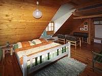 Zelený pokoj: Dvojpostel plus 2 samostatné postele - chalupa k pronajmutí Velké Karlovice