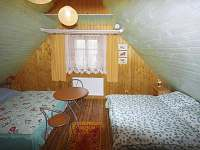 Žlutý pokoj: 2 x dvojpostel - chalupa k pronajmutí Velké Karlovice