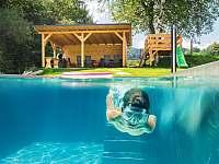 Bazén děti milují - chalupa ubytování Bukovec