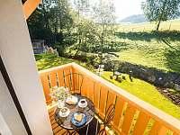 Malý apartmán- výhled z balkónu - Bukovec