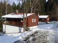 chaty MIDOS-chaty č.2 a č.3 v zimě