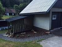Venkovní posezení - chata ubytování Dolní Bečva