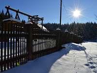 Zima a sníh u nás na chalupě Visalaje