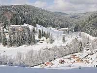 Pohled ze svahu Ski Areálu Razula - Velké Karlovice