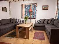 Obývací pokoj - chalupa ubytování Karolinka