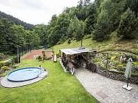 Venkovní bazén - chalupa ubytování Dolní Bečva