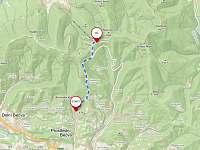 Cesta z chaty na Pustevny - Prostřední Bečva