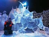 Ledové sochy na Pustevnách - chata k pronajmutí Prostřední Bečva