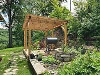 Vše se nám zelená a zarůstá travičkou, květinama a bylinkama... - chata k pronájmu Řeka