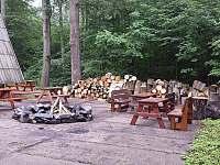 Společné venkovní posezení ohniště