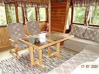 Obývací pokoj - pronájem chaty Dolní Lomná