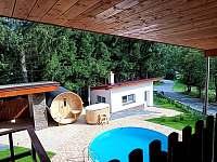 Venkovní bazén - pronájem chaty Horní Bečva