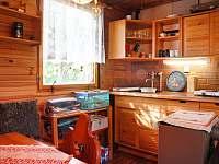 Kuchyň 1.polovina chaty - ubytování Nový Hrozenkov