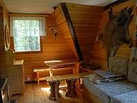 Obývací pokoj 2.polovina chaty - pronájem Nový Hrozenkov